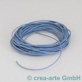 Baumwollschnur gewachst hellblau 5m_4301
