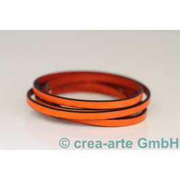 Flachlederband orange 1m_4342