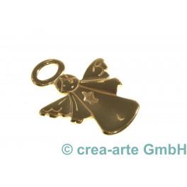 Metallanhänger Engel, 25x22mm, goldfarbig_4954