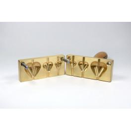 Perlenpresse drei 3D Herzen, Dornführung senkrecht_5213