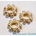 Metallperle Baliring, goldfarbig, 3 Stück_5349
