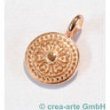 Metallanhänger Orientalische Münze, rosegoldfarbig_5368
