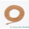 Kugelkette, Metall, rosegoldfarbig, 90cm lang