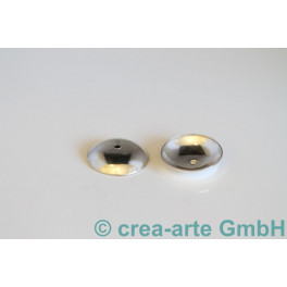 Perlkappen 925er Silber einfach, 17mm 10 stk._542