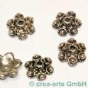 Metallkappen Blumen, 10mm 5 Stück
