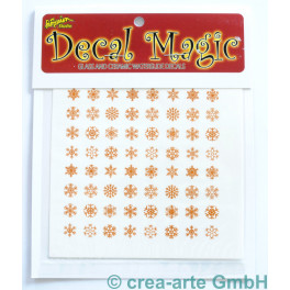 Decal Magic - Schneeflocken, goldfarbig_5660