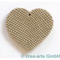 Lederanhänger Herz, grau