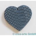 Lederanhänger Herz, blau