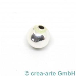 Perle rund, versilbert, 20 Stück_6061