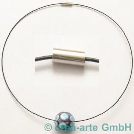 Collier mit starkem Magnet, schwarz, 45cm_623