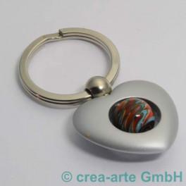 Herzschlüsselanhänger, silberfarbig_635