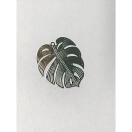 Edelstahl-Anänger Tropisches Blatt_6493