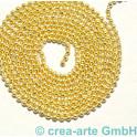 Kugelkette, 1.2mm, Metall, vergoldet, 1m