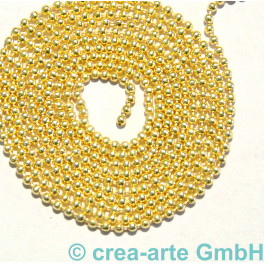 Kugelkette, 1.2mm, Metall, vergoldet, 1m_6723