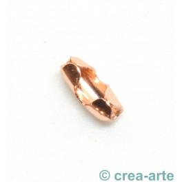 Verschluss zu Kugelkette 2mm, rose vergoldet_6836