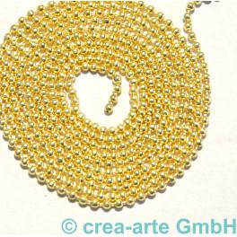 Kugelkette, 1.4mm, Metall, vergoldet, 1m_6983