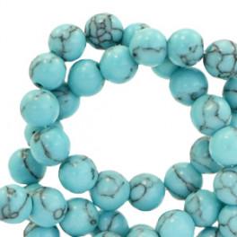 Natursteinstrang 6mm  turquoise blue_7125