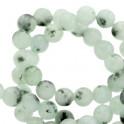 Natursteinstrang 6mm  grayed jade green_7127