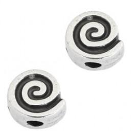 Metallperle Spirale, antik-silberfarbig_7304