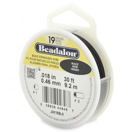 Beadalon Schmuckdraht 0.46mm, schwarz_7475