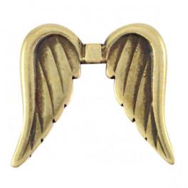 Engelsflügel, gross, 32x35mm, bronzefarbig