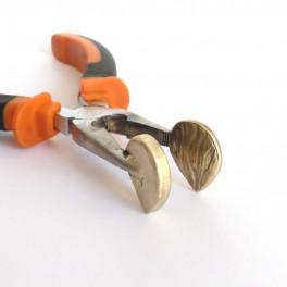 Flachpresszange, klein mit Rillen