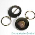 porte clés noir métallic